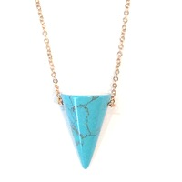 Urban Gem Apex Necklace in Turquoise