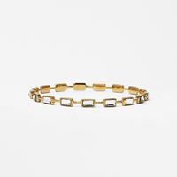 Isharya Mirror Gems Rectangle Stackable Bangle