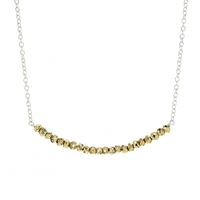Lotus Jewelry Studio Silver Seed Necklace in Gold Pyrite
