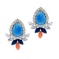 Urban Gem Titanic Earrings in Sailor Blue