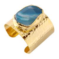 Charlene K Agate Blue Quartz Cuff