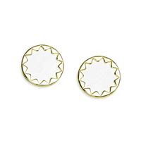 House of Harlow 1960 Sunburst Button Earrings in White