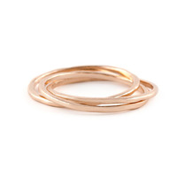 Gorjana Infinity II Ring in Rose Gold