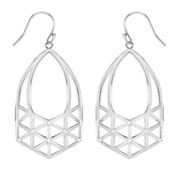 Matterial Fix Lattice Earring in Silver
