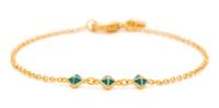 Gorjana Lula Pyramid Bracelet in Eggshell and Ocean Blue