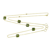 Charlene K Jade Turquoise Necklace Chain in Gold