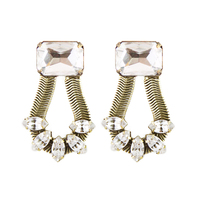 Loren Hope Clara Earrings in Crystal