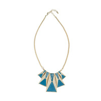 Urban Gem  Isla Deco Necklace in Blue