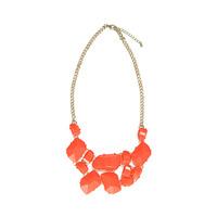 Urban Gem Poppy Necklace in Neon Orange