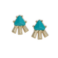 Urban Gem Cindy Studs in Turquoise
