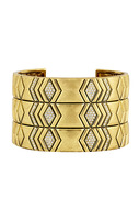 House of Harlow 1960 Echo Crest Cuff in Gold