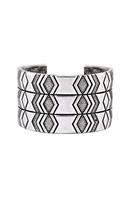 House of Harlow 1960 Echo Crest Cuff in Silver
