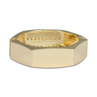 Urban Gem Geometric Bangle in Gold