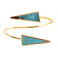 Charlene K Turquoise Long Triangle Pointed Bracelet