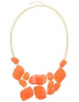 Urban Gem Poppy Necklace in Orange