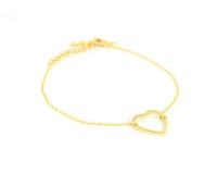 Wanderlust + Co Frame Heart Bracelet