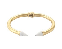 Wanderlust + Co Double Stud XL Gold & Marble Cuff