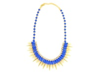 Wanderlust + Co Multi-Spike Bib Cobalt Necklace