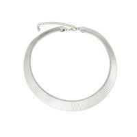 Urban Gem Silver Collar Necklace