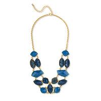 Urban Gem Helena Necklace in Blue