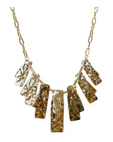 Jules Smith Hammered Petal Necklace in Gold