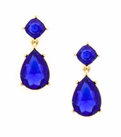 Urban Gem Teardrop Rhinestone Earring in Blue