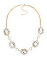 Urban Gem Vienna Crystal Necklace in Gold