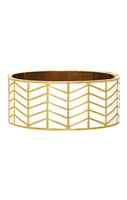 House of Harlow 1960 Enamel River Cuff in White