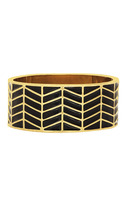 House of Harlow 1960 Enamel River Cuff in Black