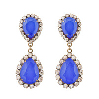 Loren Hope Abba Earrings in Cobalt