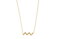 Wanderlust + Co Zig-Zag Gold Necklace