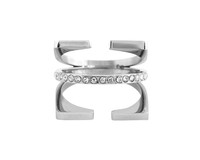 Wanderlust + Co Triple Cage & Crystal Silver Ring