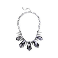 Fortuni Geo Deco Necklace in Silver