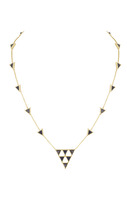 House of Harlow 1960 Triangle Trellis Necklace in Lapis