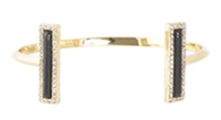 House of Harlow 1960 Illuminating Rectangle Cuff in  Black