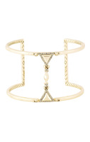 House of Harlow 1960 Trés Tri Cut Out Cuff in Gold