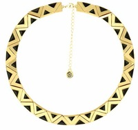 House of Harlow 1960 Aura Collar Necklace in Black