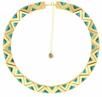 House of Harlow 1960 Aura Collar Necklace in Turquoise