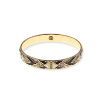 House of Harlow 1960 Braided Pavé Bangle in White