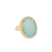 Margaret Elizabeth Ophelia Cocktail Ring in Aqua