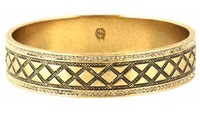 House of Harlow 1960 Shakti Engraved Bangle in Gold