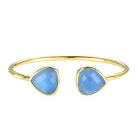 Margaret Elizabeth Teardrop Bangle in Blue Chalcedony