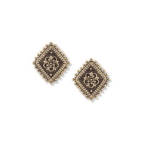 Vanessa Mooney The Diamond Lace Earrings in Gold