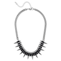 SLATE Spiked Out Necklace in Silver
