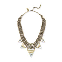 Jenny Bird Illumina Bib Necklace in Gold