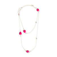 Charlene K Charm Necklace in Fuchsia Quartz