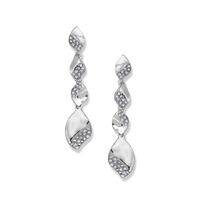 Fortuni Pave Dangly Earrings in Silver