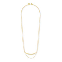 Gorjana Crescent Layer Necklace in Gold