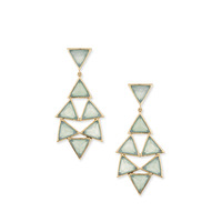 Margaret Elizabeth Trieste Earrings in Aqua