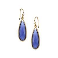 Ashiana London One Stone Drop Earring in Blue